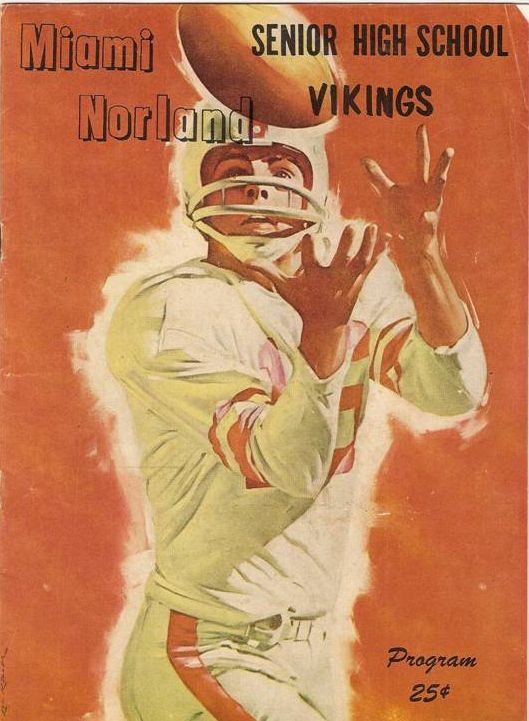 Norland Football Program from the '60s