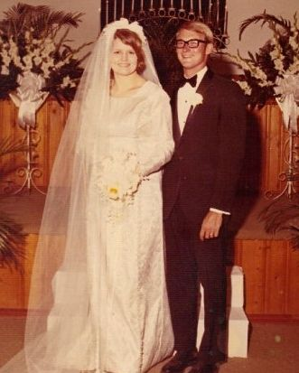 Mike Lytle and his Wife Brenda at Their Wedding in the '70s